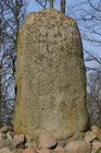 Memorial stone for King Erik I (c1060-1103), a.k.a., 'Erik the Good' or Erik Ejegod; Borgvold, Viborg Amt, DK (photo from WikimediaCommons by User:Calvin, 2007).
